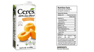 Ceres - Peach - 1 litre Product Image
