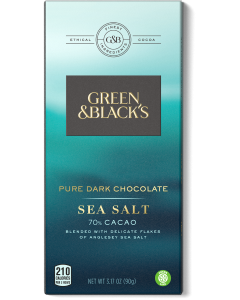 Green and Black's Organic - Sea Salt Dark Chocolate - 90g Product Image