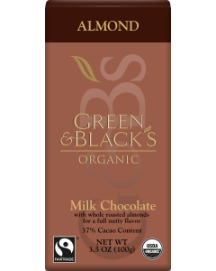Green and Black's Organic  - Almond Milk Chocolate - 90g Product Image