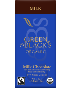 Green and Black's Organic - Milk Chocolate - 90g Product Image
