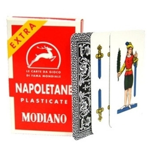 Italian Playing Cards -Napoletane Modiano Plastica Product Image