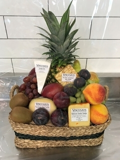 Cheese and Fruit  Basket Product Image