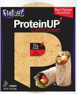Flatout - Protein Up - Red Pepper Hummus  Product Image
