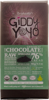 Giddy Yoyo Spirulina Bar 76% Product Image