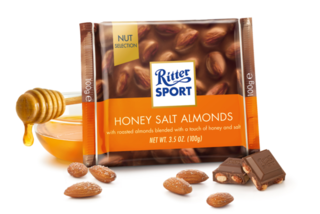 Ritter Sport - Milk Chocolate with Honey Salted Almonds Product Image