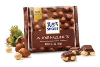 Ritter Sport - Milk Chocolate with Whole Hazlenuts Product Image