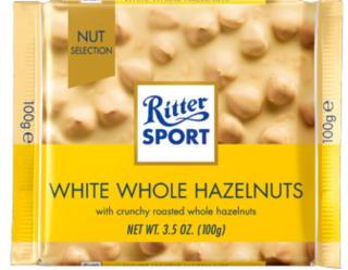 Ritter Sport - White Chocolate with Whole Hazlenuts Product Image