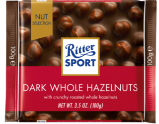 Ritter Sport - Dark Chocolate with Whole Hazelnut  Product Image