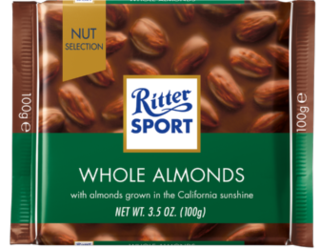 Ritter Sport - Milk Chocolate with Whole Almonds Product Image
