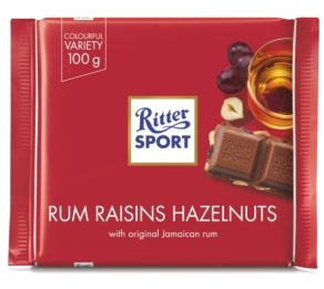 Ritter Sport - Rum Raisins and Hazelnuts Product Image