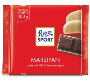 Ritter Sport - Dark Chocolate with Marzipan Product Image
