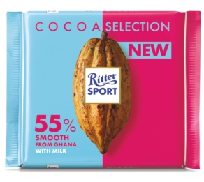 Ritter Sport - Cacao Dark Milk Chocolate 55% Product Image