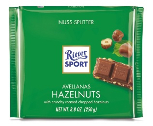 Ritter Sport - Milk Chocolate with Hazelnuts  Product Image