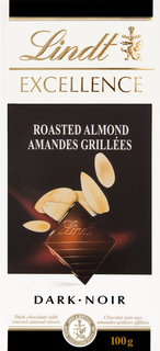 Lindt - Excellence Roasted Almond Dark  Product Image