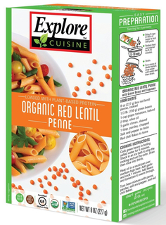 Explore Cuisine- Red Lentil Penne Product Image