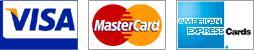 We accept MasterCard, Visaand American Express